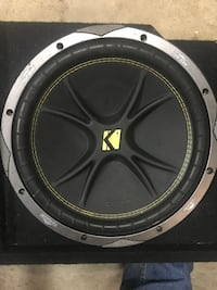 kicker comp c12 4 ohm with single voice coil. Downward custom box made for full size truck with .9 cu.ft air space  Katy, 77449