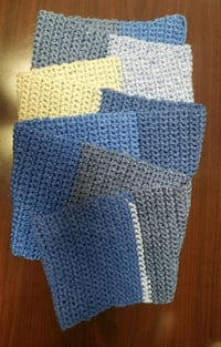 blue and white knitted textile Catonsville, 21228