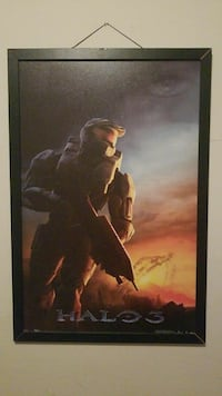 Framed Halo 3 painting  Austin, 78754