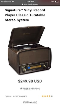 record player / CD / radio / digitizes vinyl to MP3 stereo Anchorage, 99504