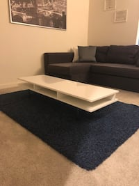 White Coffee Table and blue carpet Chantilly, 20151