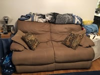 brown fabric 2-seat sofa Bethesda, 20814