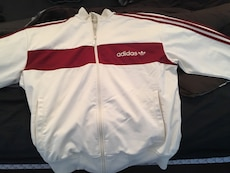 Vintage white and red adidas jacket