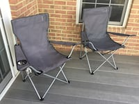 two black and gray camping chairs Bowie, 20720