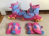 Roller skates with knee and elbow protectors Blomsterdalen