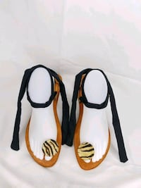Handmade sandals & earrings