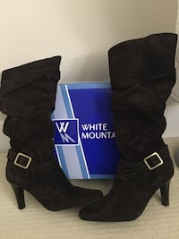 Ladies brown synthetic suede boots brand new size 8 Surrey, V3Z