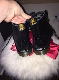 pair of black leather boots Tulsa, 74114
