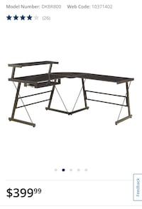 Broderick L-Shaped Corner Desk - Black Oakville, L6H