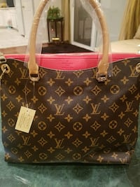 brown Louis Vuitton leather tote bag Burke, 22015