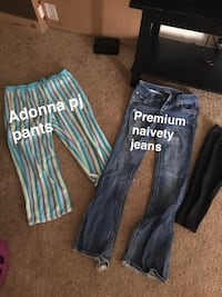 two black and blue denim jeans Louisville, 40222