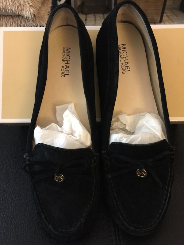 89e1961291a Used NIB MICHAEL Michael Kors Everett Moc Leather Loafers - Black Suede  Size 11 for sale in Richmond - letgo