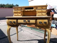 French PROVENCIAL 4 ft tall desk 10 drawerS  Oklahoma City, 73114