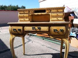 4 ft tall COMMERCIAL DESK 1858 French 10 drawerS