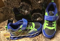 Toddler's/boy's Mutant Ninja Turtles blue, green, & gray runners- lights up, brand new with tag Calgary, T2J