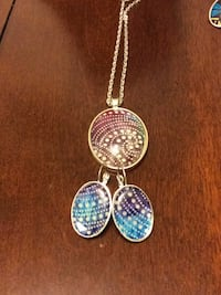 African Art Pendant and earring set Silver Spring, 20910