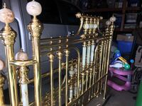 Vintage Queen Brass Bed Frame with Marble Finials on Posts Escondido, 92029