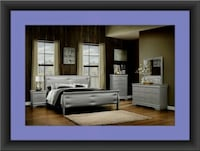11pc Grey Marley bedroom set with mattress  UNIVERSITY PA, 20782