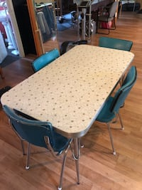 Vintage table, 4 chairs  Metchosin, V9C 4B4