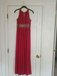 Red size 8 floor length dress with accent beading  Baltimore, 21227