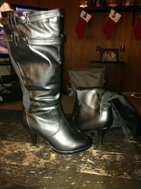 leather boots Wide size 10