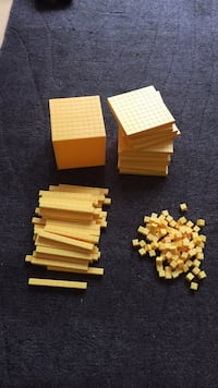 yellow plastic cube puzzle toy