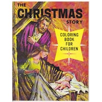 THE CHRISTMAS STORY 1961 LELAND VINTAGE COLORING BOOK Hanover