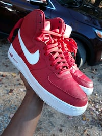 Air Force 1 High Red White Men's size 10