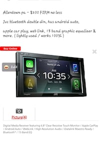 Jvc double din android auto and apple car play