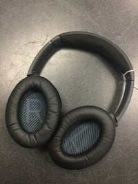 black and gray corded headphones Chicago