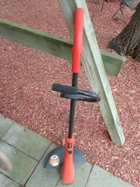 red and black electric string trimmer Bowie
