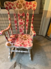 Rocking chair wood patterned Mc Lean, 22102