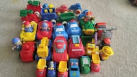 assorted pastic toy car