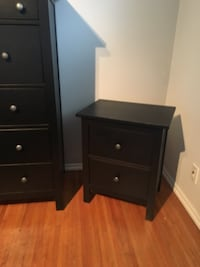 IKEA black/brown dresser and nightstand good condition