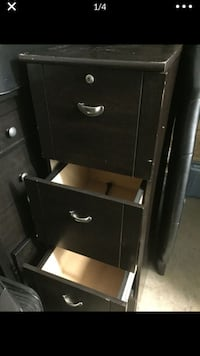 Wooden 4-drawer filing cabinet