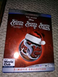 Disney's Santa Clause Anniversary 1 2 3 Blue Ray And DVD