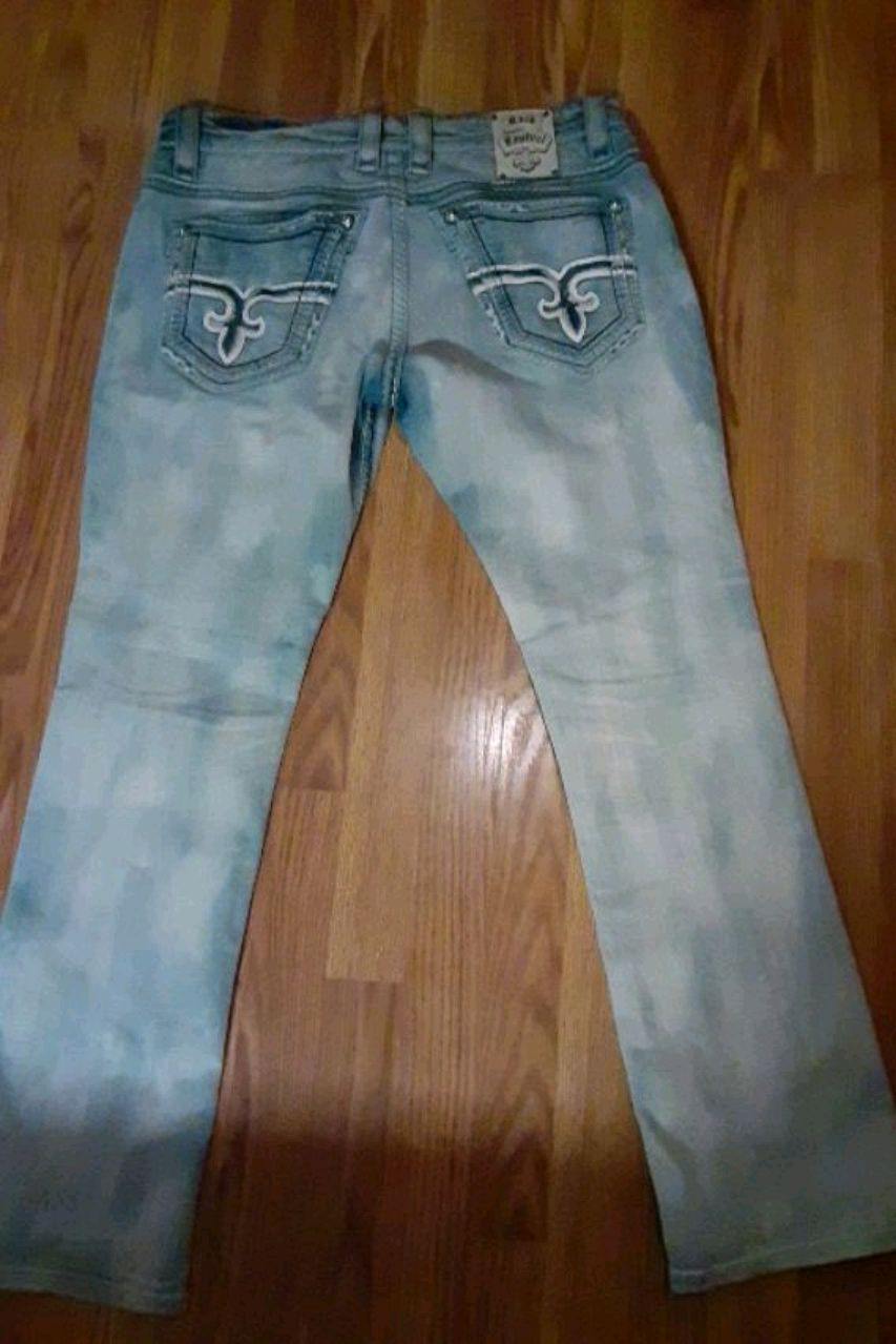 Photo Mens Rock revival Pants waist size 34