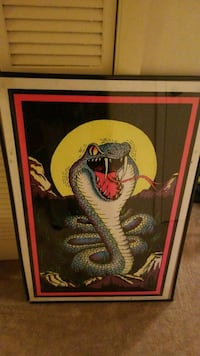 """Viper"" blacklight poster with poster frame"