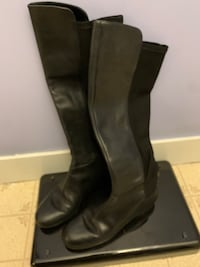 Women's all black knee high boots Milford, 03055