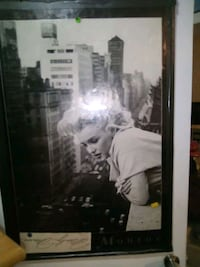 Marilyn Monroe poster with signature