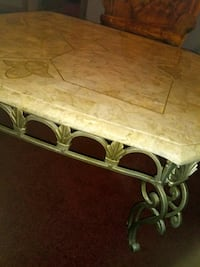 2 matching marble end tables