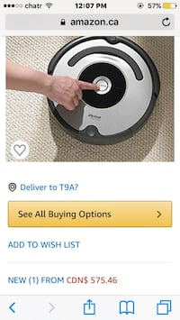 Irobot roomba used but in excellent condition