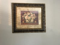 Floral picture/painting Walnut