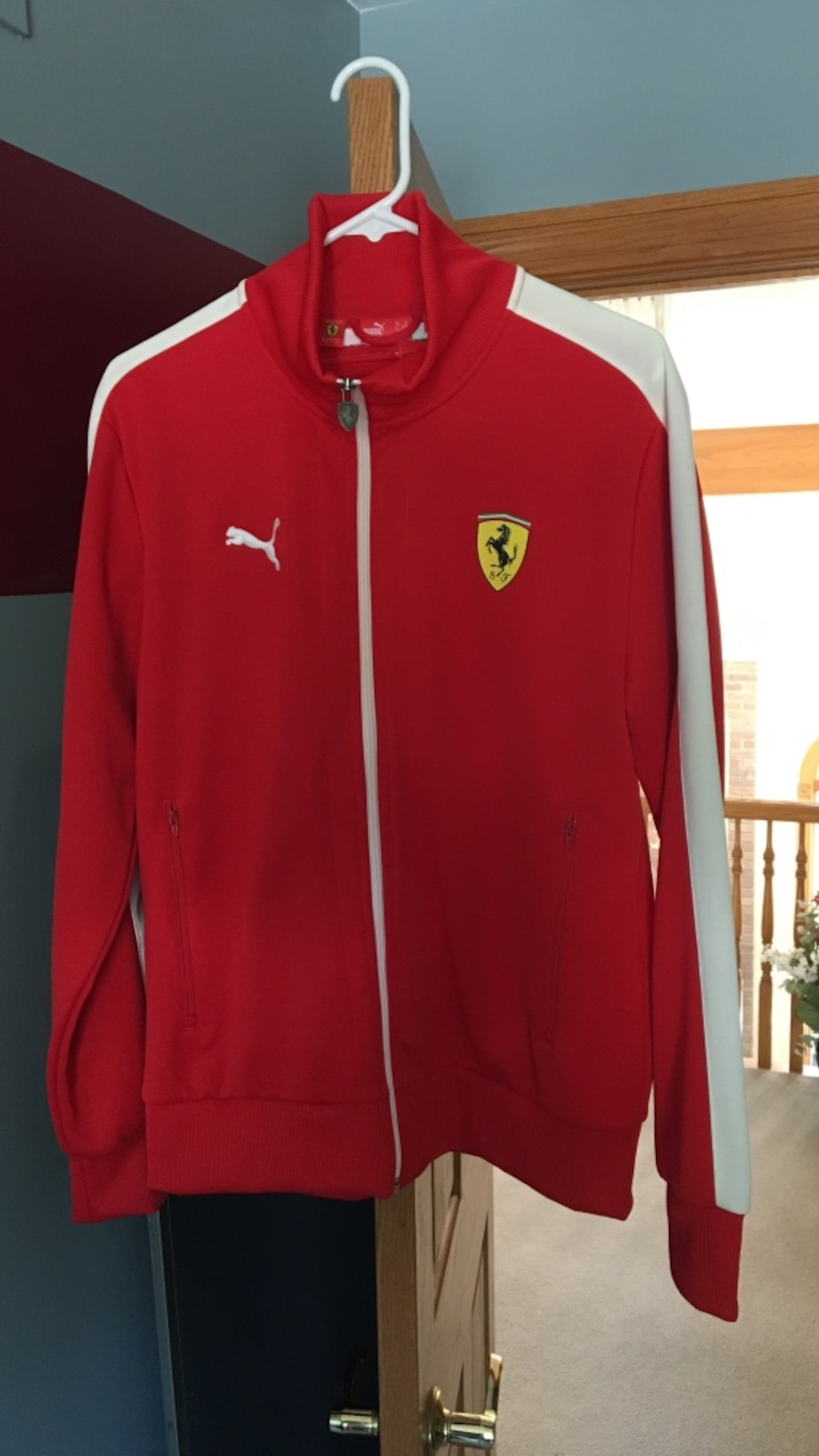 p red official softshell large team jacket size scuderia mens ferrari s men x asp