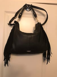 Leather Danier fringe purse