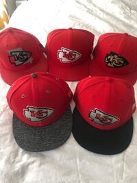 Kansas City Chiefs New Era Fitted Caps size 7 5/8.