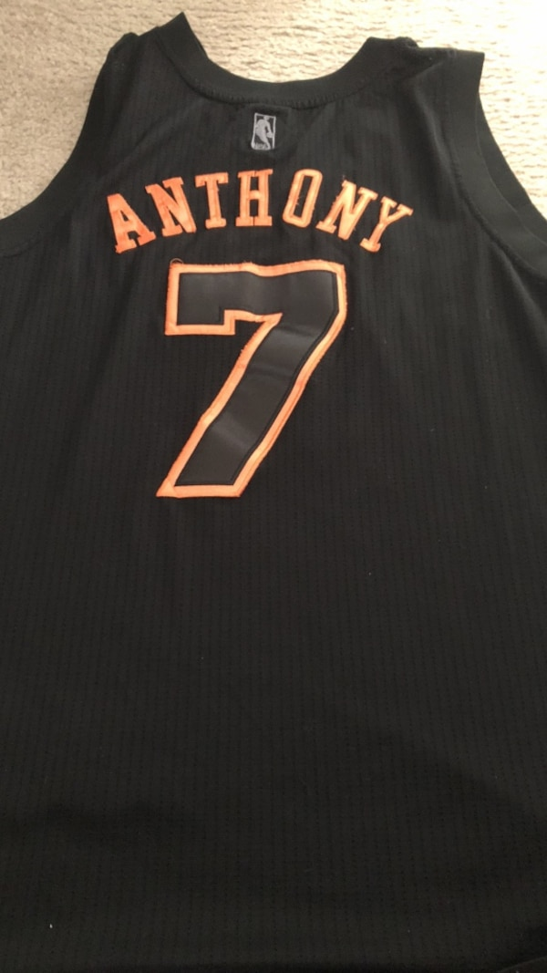 huge selection of 315d3 73b88 Rare Carmelo Anthony Jersey black and orange