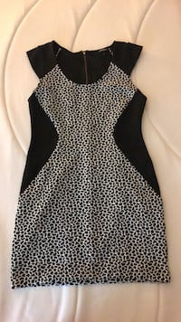 Women's black and white sleeveless dress Indian Head, 20640