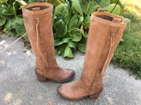 NINE WEST VINTAGE AMERICA COLLECTION DISTRESSED LEATHER BRAIDED BOOTS 6 1/2 M Puyallup, 98373