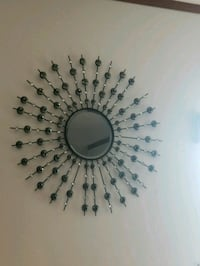 round gray metal framed mirror Grand Forks